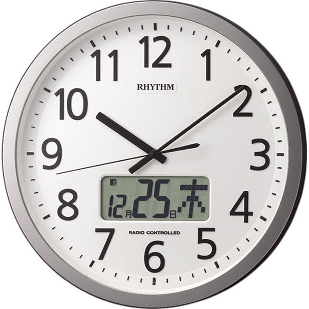 名入れプレート付き 電波_掛け時計 プログラムカレンダー405SR 名入れプレート付 き 新築祝い 竣工記念 開店祝い 開業祝い プレゼント