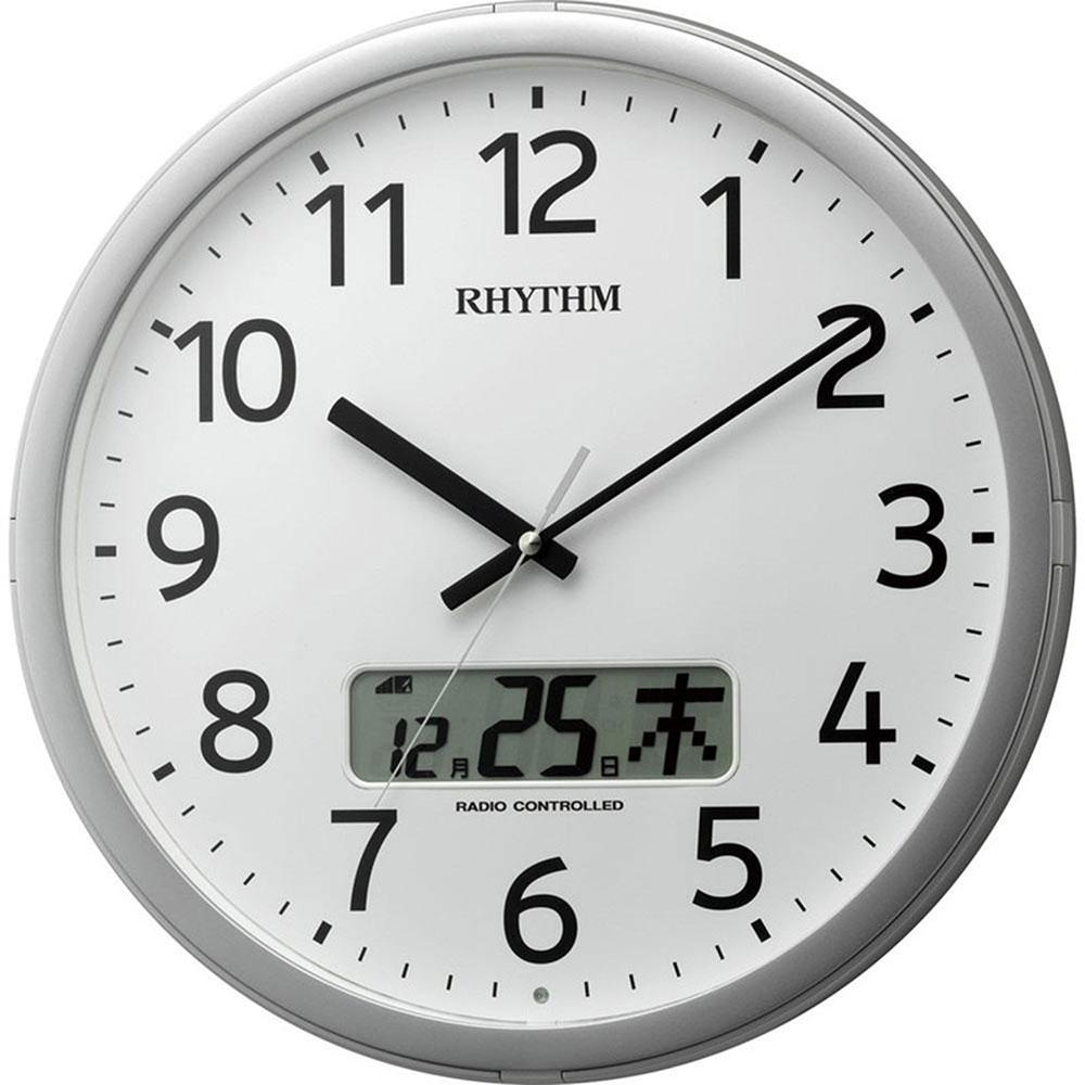 名入れプレート付き 電波_掛け時計 プログラムカレンダー01SR 名入れプレート付 き 新築祝い 竣工記念 開店祝い 開業祝い プレゼント