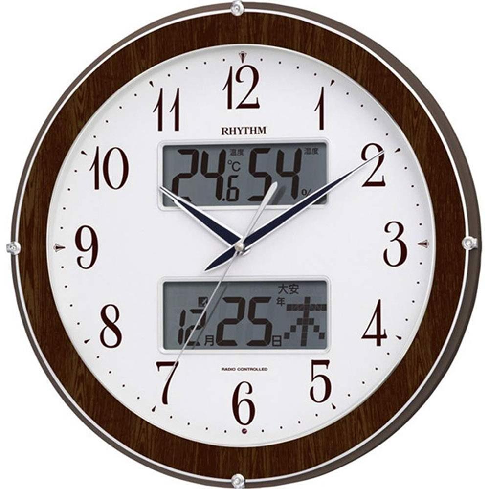 名入れプレート付き 電波_掛け時計 ピュアカレンダー622 名入れプレート付 き 新築祝い 竣工記念 開店祝い 開業祝い プレゼント