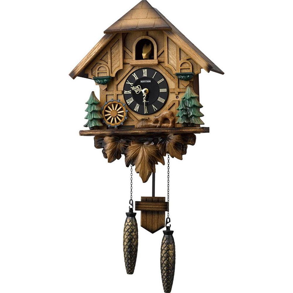 名入れプレート付き 掛け時計 カッコーティンバー 名入れプレート付 き 新築祝い 竣工記念 開店祝い 開業祝い プレゼント