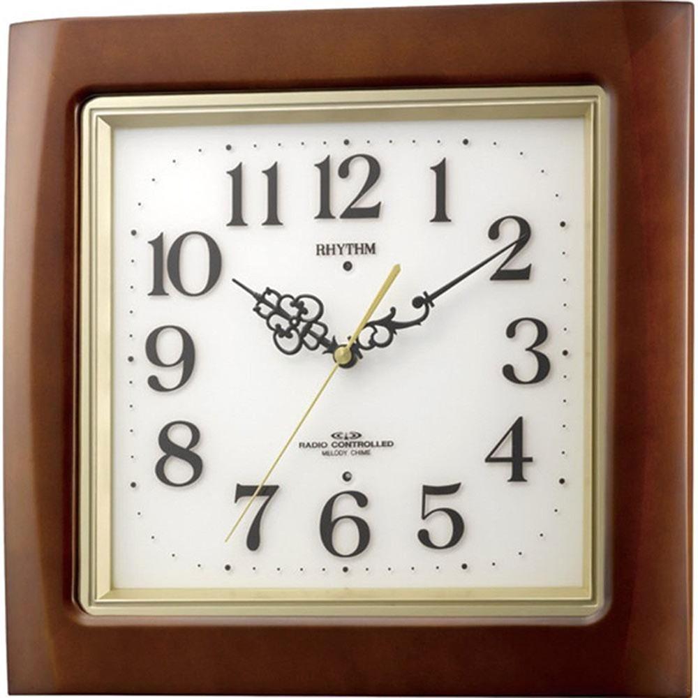 名入れプレート付き 電波_掛け時計 ネムリーナM468R 名入れプレート付 き 新築祝い 竣工記念 開店祝い 開業祝い プレゼント