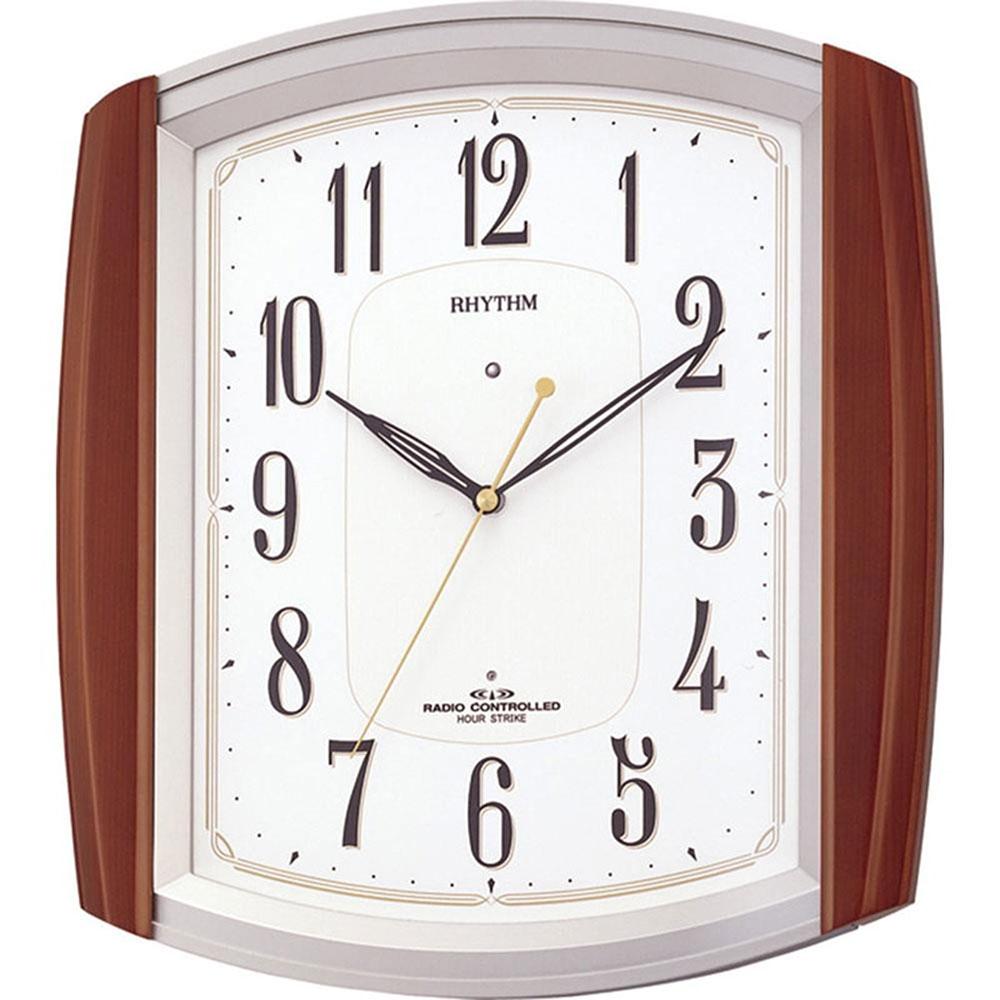 名入れプレート付き 電波_掛け時計 ネムリーナM469R 名入れプレート付 き 新築祝い 竣工記念 開店祝い 開業祝い プレゼント