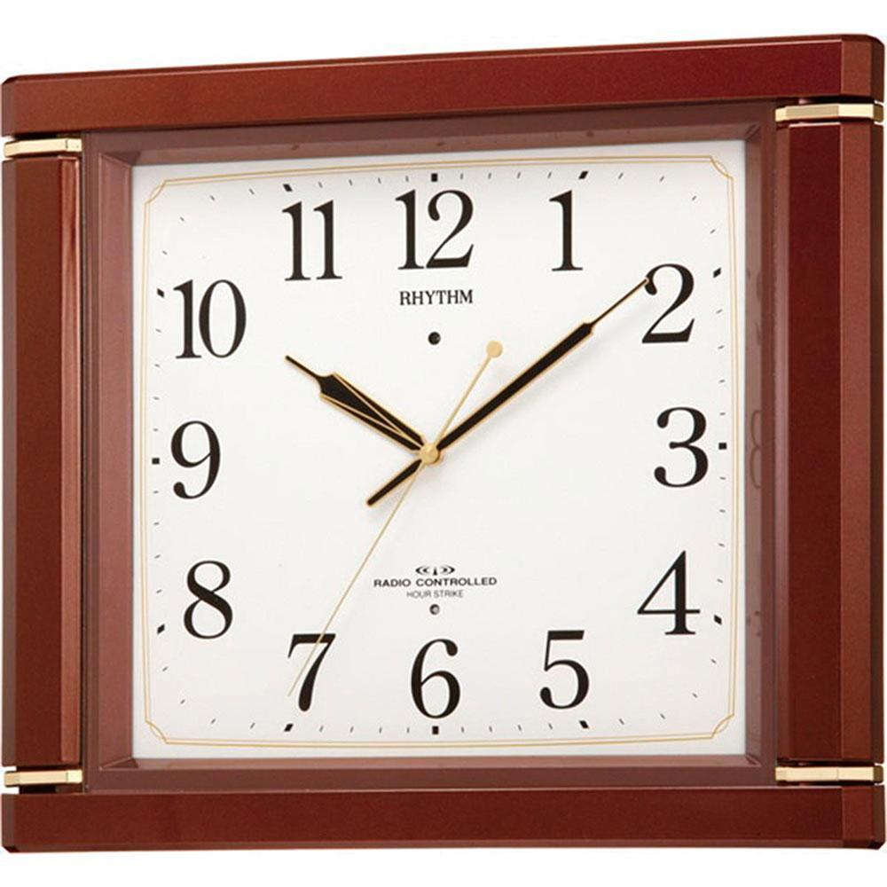 名入れプレート付き 電波_掛け時計 ネムリーナM494R 名入れプレート付 き 新築祝い 竣工記念 開店祝い 開業祝い プレゼント