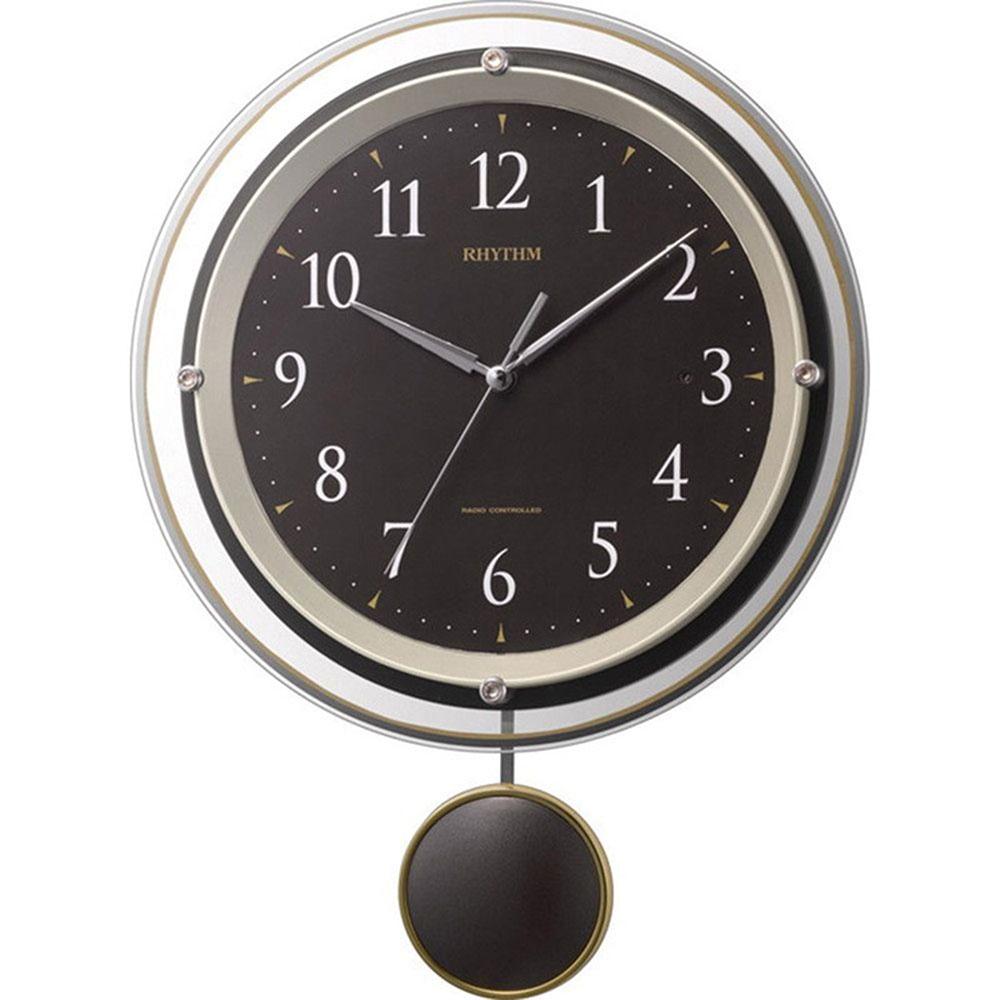 名入れプレート付き 電波_掛け時計 ソフレール 名入れプレート付 き 新築祝い 竣工記念 開店祝い 開業祝い プレゼント
