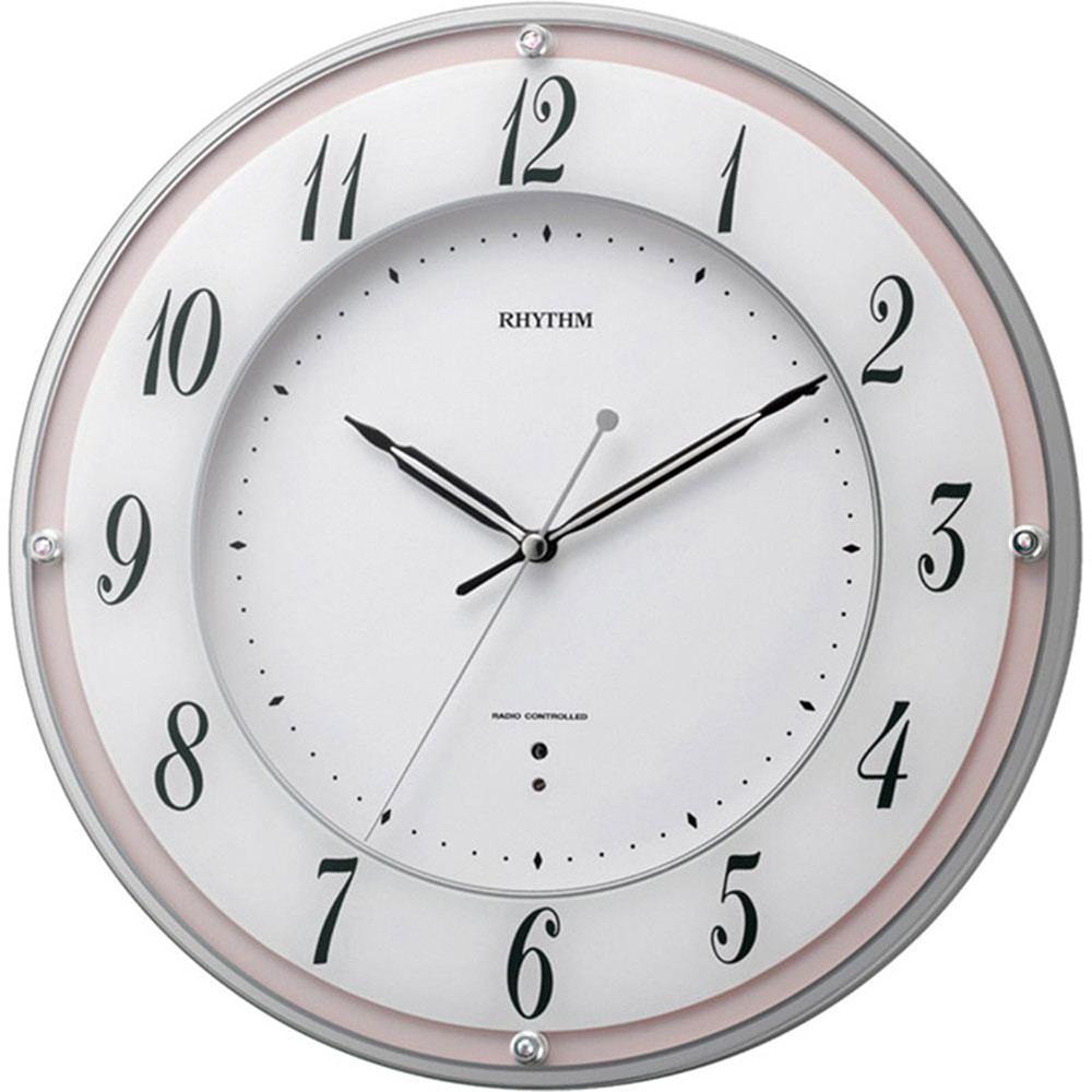 名入れプレート付き 電波_掛け時計 ミレディローズ 名入れプレート付 き 新築祝い 竣工記念 開店祝い 開業祝い プレゼント