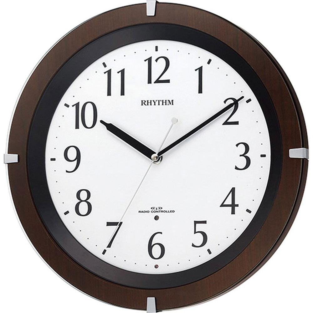 名入れプレート付き 電波_掛け時計 リバライトF460SR 名入れプレート付 き 新築祝い 竣工記念 開店祝い 開業祝い プレゼント