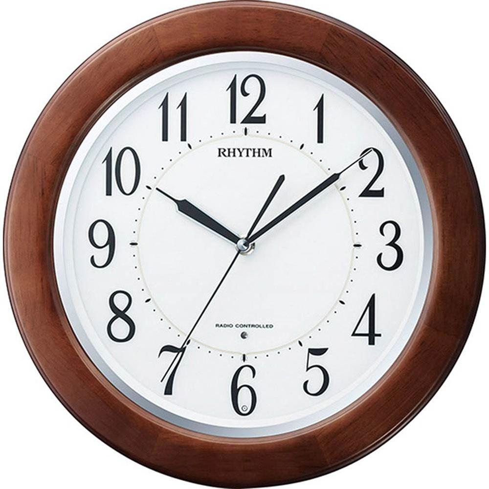 名入れプレート付き 電波_掛け時計 リバライトF461SR 名入れプレート付 き 新築祝い 竣工記念 開店祝い 開業祝い プレゼント