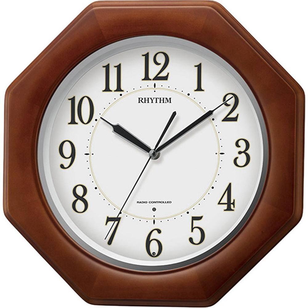 名入れプレート付き 電波_掛け時計 リバライトF490SR 名入れプレート付 き 新築祝い 竣工記念 開店祝い 開業祝い プレゼント