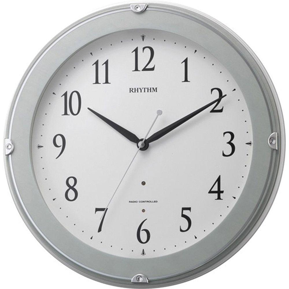 名入れ無料 プレゼント 電波時計 掛け時計 | リズム時計 名入れプレート付き ピュアライトマーロン | 電波掛け時計 NAI8MYA23SR04 | 掛け時計 | お祝い 竣工 設立 新生活 記念品 プレゼント