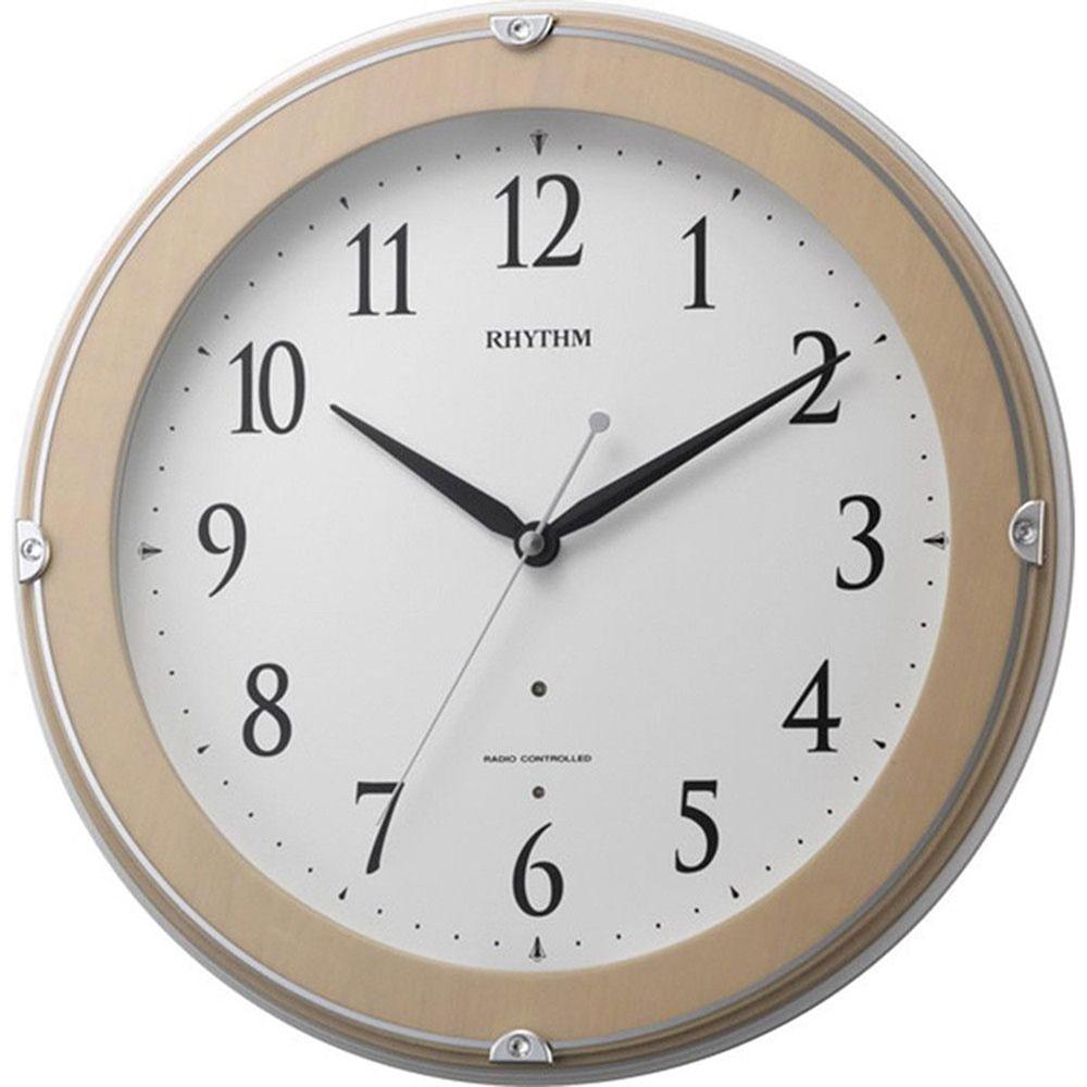 名入れ無料 プレゼント 電波時計 掛け時計 | リズム時計 名入れプレート付き ピュアライトマーロン | 電波掛け時計 NAI8MYA23SR13 | 掛け時計 | お祝い 竣工 設立 新生活 記念品 プレゼント