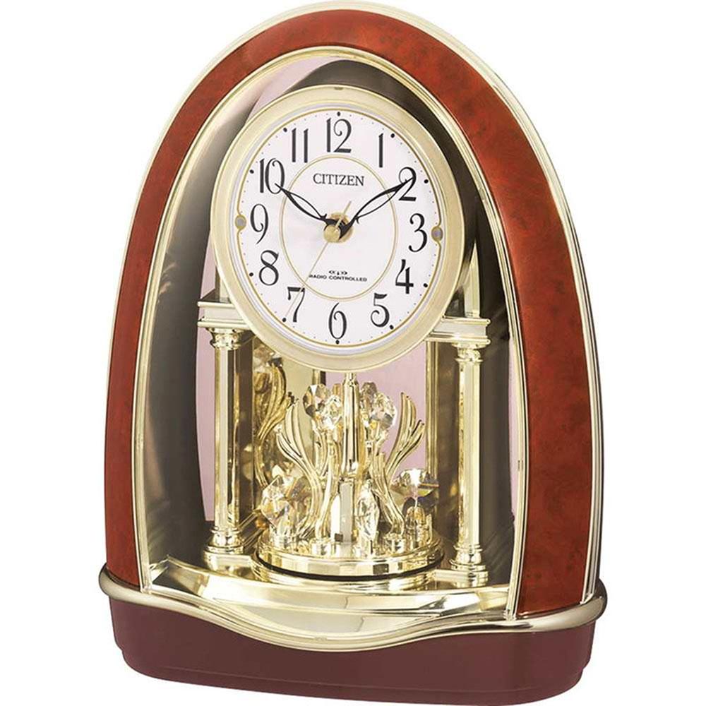 名入れプレート付き 電波_置き時計 パルドリームR414 名入れプレート付 き 新築祝い 竣工記念 開店祝い 開業祝い プレゼント