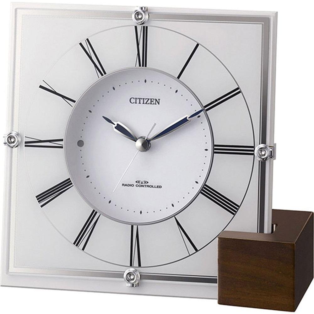 名入れ無料 プレゼント 電波時計 掛け時計 | リズム時計 名入れプレート付き マリアージュ707 | 電波_掛置き時計 NAI4RY707-003 | 置き時計 | お祝い 竣工 設立 新生活 記念品 プレゼント