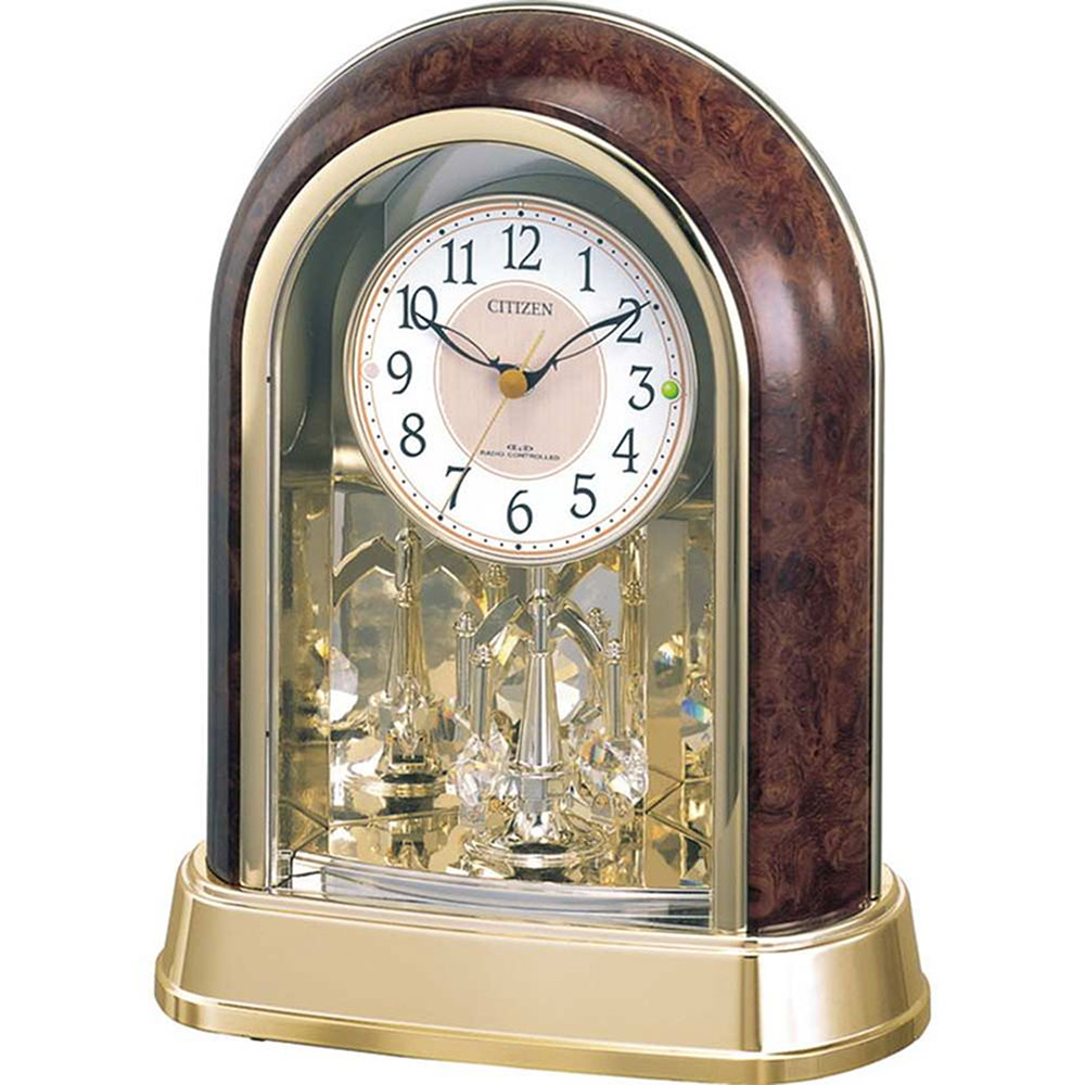 名入れ無料 プレゼント 電波時計 掛け時計 | リズム時計 名入れプレート付き パルドリームR656 | 電波_置き時計 NAI4RY656-023 | 置き時計 | お祝い 竣工 設立 新生活 記念品 プレゼント