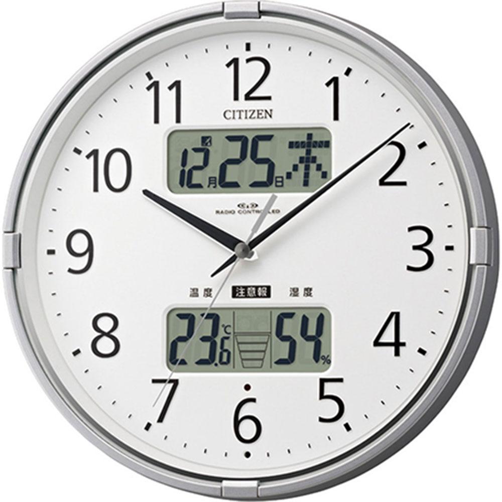 名入れプレート付き 電波_掛け時計 インフォームナビF 名入れプレート付 き 新築祝い 竣工記念 開店祝い 開業祝い プレゼント