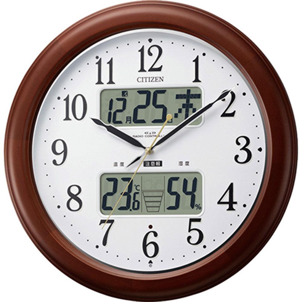 名入れプレート付き 電波_掛け時計 インフォームナビEX 名入れプレート付 き 新築祝い 竣工記念 開店祝い 開業祝い プレゼント