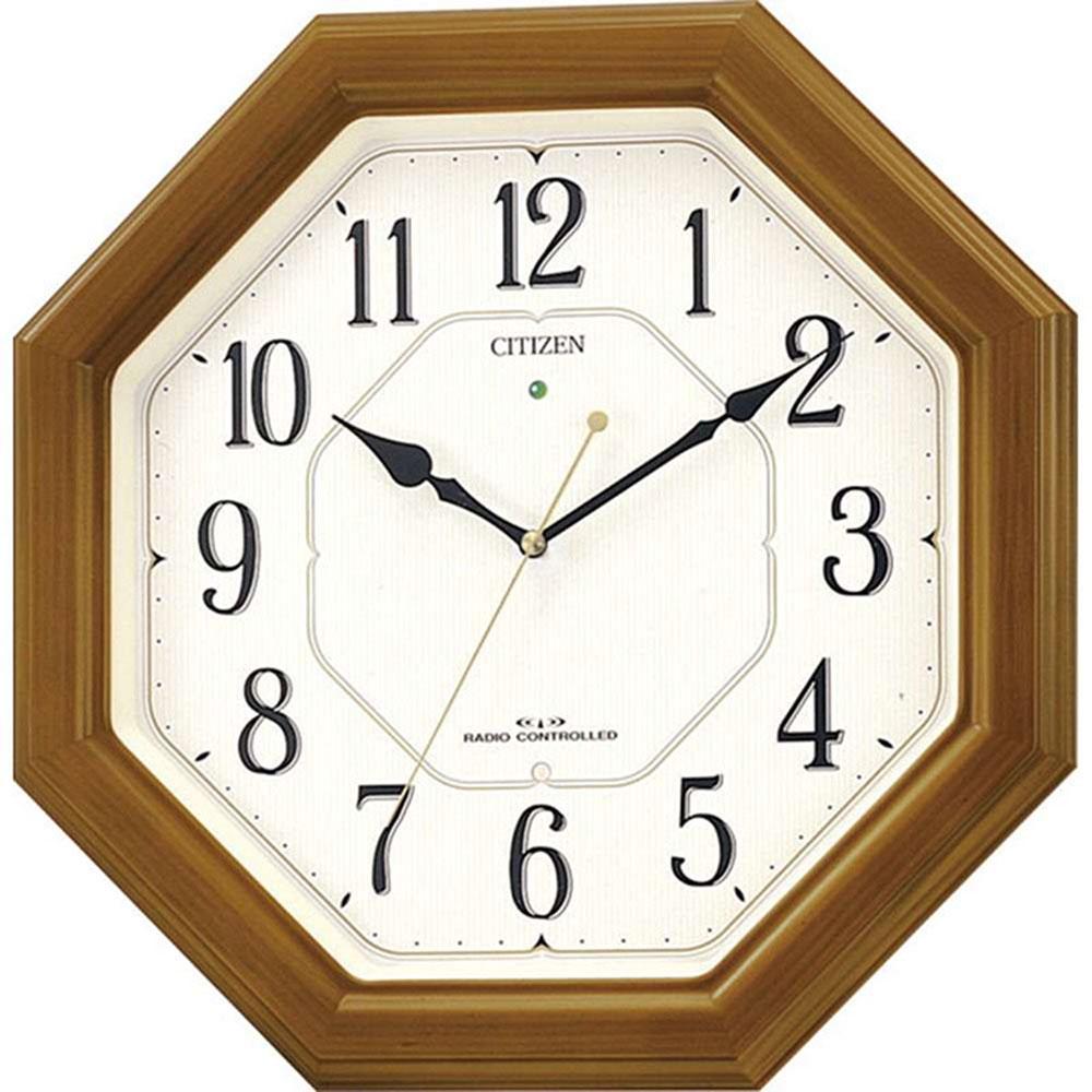 名入れ無料 プレゼント インテリアクロック | リズム時計 名入れプレート付き ネムリーナルック | 電波掛け時計 NAI4MY645-006 | 置き時計 | お祝い 竣工 設立 新生活 記念品 プレゼント