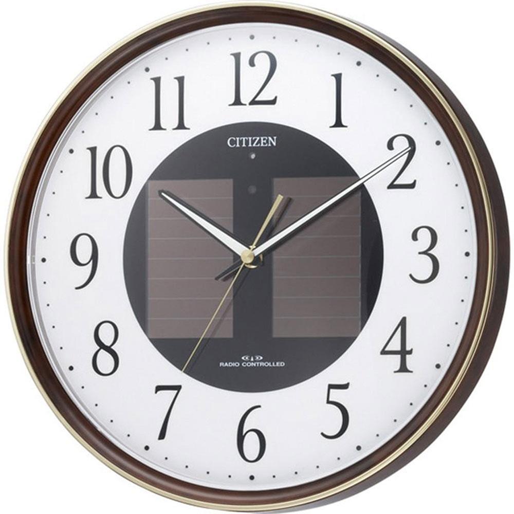 名入れプレート付き 電波_掛け時計 エコライフM807 名入れプレート付 き 新築祝い 竣工記念 開店祝い 開業祝い プレゼント
