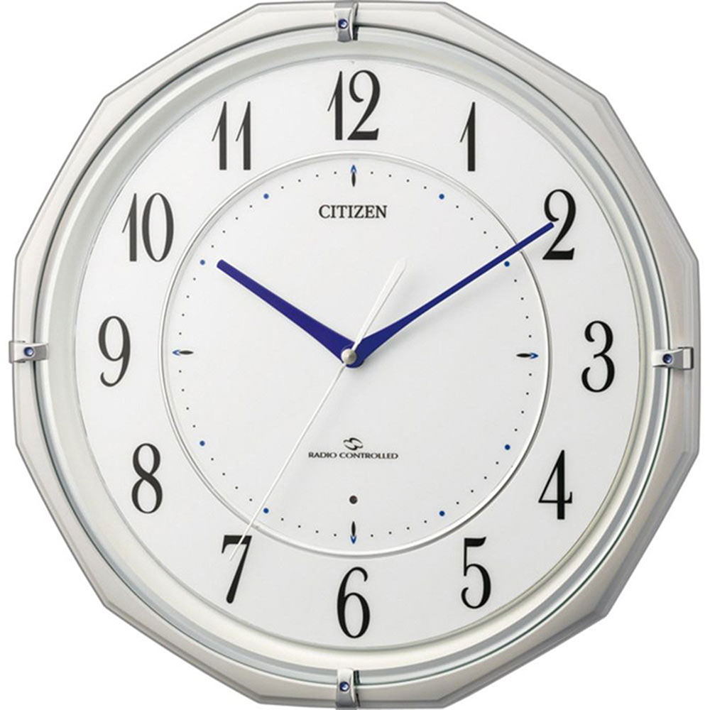 名入れプレート付き 電波_掛け時計 スリーウェイブM822 名入れプレート付 き 新築祝い 竣工記念 開店祝い 開業祝い プレゼント
