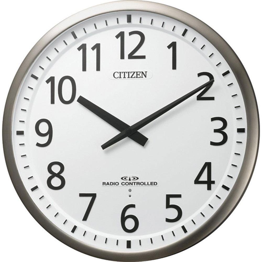 名入れ無料 プレゼント 電波時計 掛け時計 NAI4MY839-019 /リズム時計 名入れプレート付き 電波掛け時計 スリーウェイブM839 NAI4MY839-019 銀色ヘアライン仕上(白)新築祝い 竣工記念 開店祝い 開業祝い