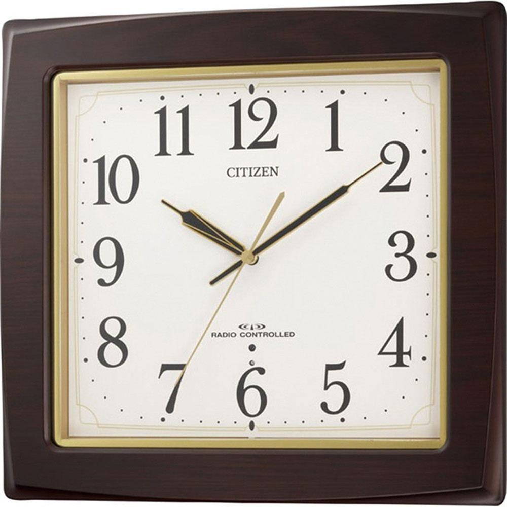 名入れ無料 プレゼント 電波時計 掛け時計 | リズム時計 名入れプレート付き ネムリーナアスカ | 電波掛け時計 NAI8MY455-006 | 掛け時計 | お祝い 竣工 設立 新生活 記念品 プレゼント