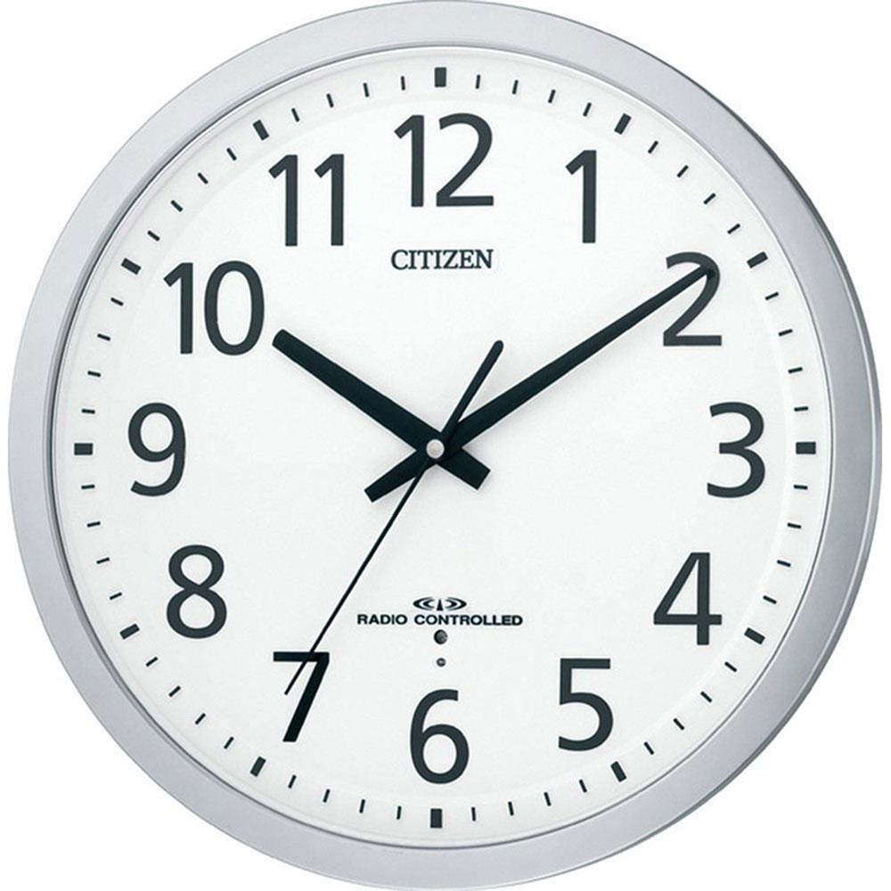 スーパーセール 9月 名入れ無料 プレゼント 電波時計 掛け時計 | リズム時計 名入れプレート付き 電波掛け時計 スペイシーM462 NAI8MY462-019 シルバーメタリック色(白) | 掛け時計 | お祝い 竣工 設立 新生活 記念品 プレゼント