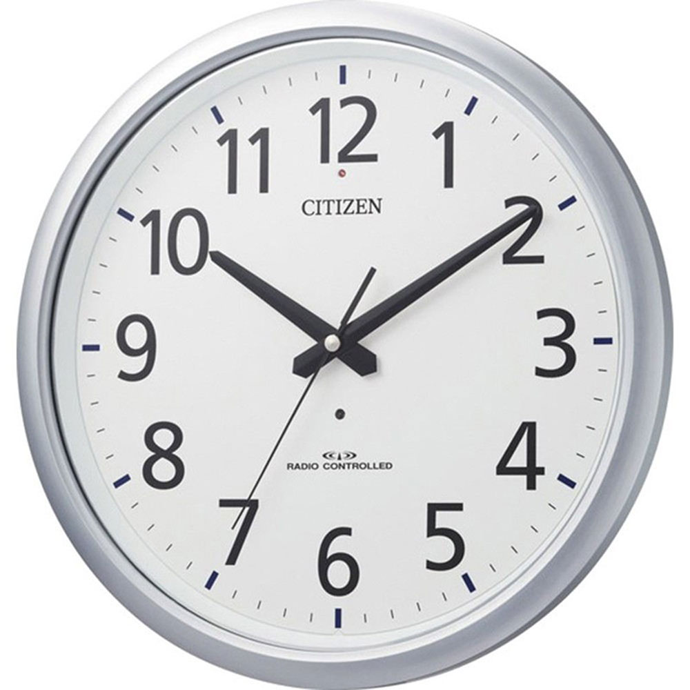 スーパーセール 9月 名入れ無料 プレゼント 電波時計 掛け時計 | リズム時計 名入れプレート付き 電波掛け時計 スペイシーアクア493 NAI8MY493-019 シルバーメタリック色(白) | 掛け時計 | お祝い 竣工 設立 新生活 記念品 プレゼント