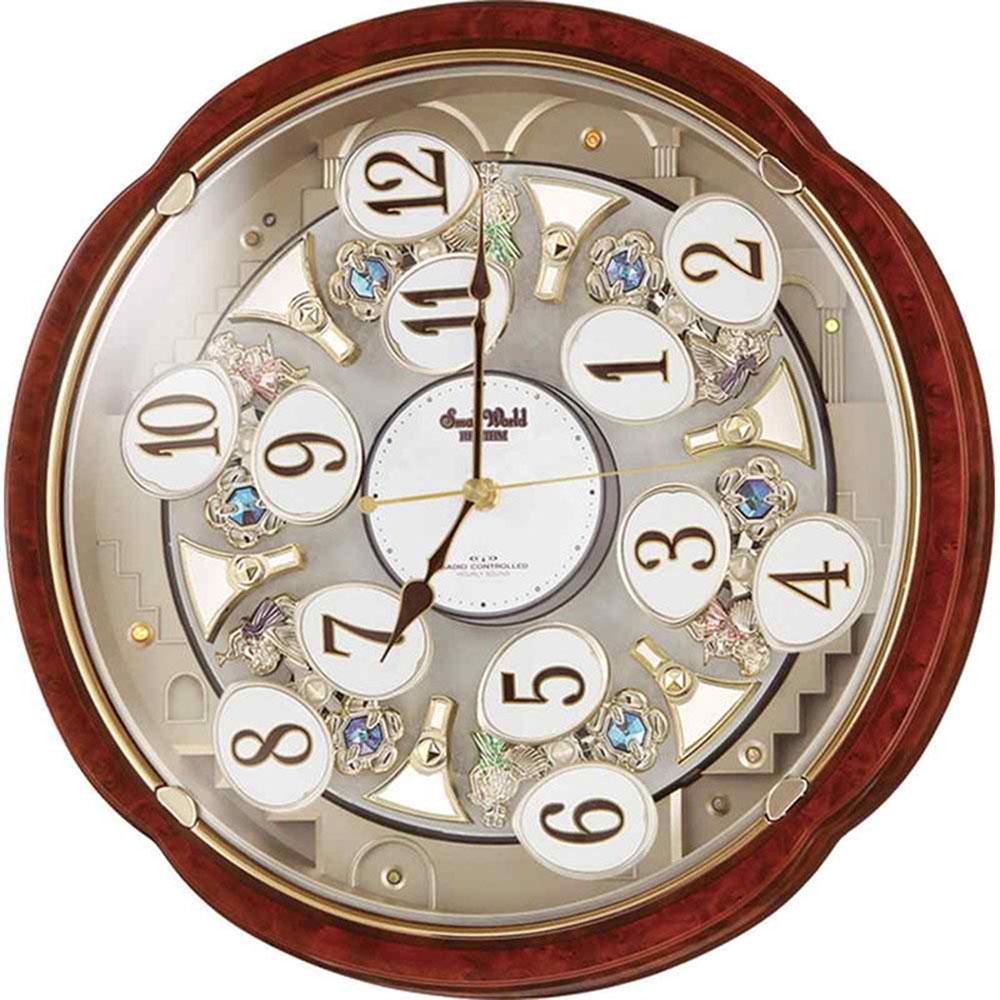 名入れプレート付き 電波_掛け時計 スモールワールドコンベルS 名入れプレート付 き 新築祝い 竣工記念 開店祝い 開業祝い プレゼント