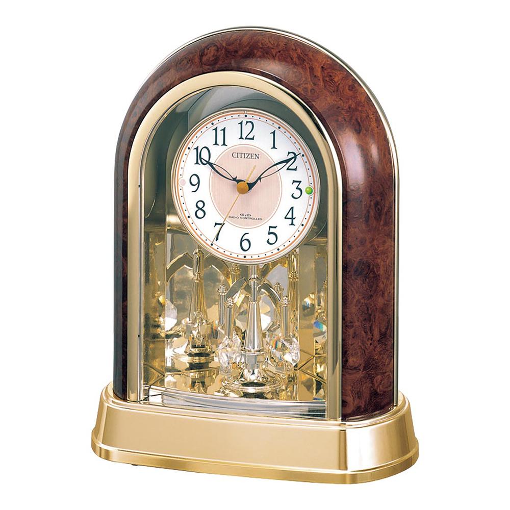 名入れ対応可 電波時計 掛け時計 | リズム時計 回転飾り付電波置時計 | 電波時計 掛置き兼用 4RY656-023 | 置き時計 | お祝い 竣工 設立 新生活 記念品 プレゼント