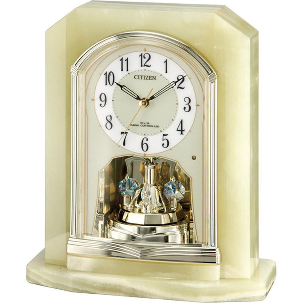 名入れ対応可 電波時計 掛け時計 | リズム時計 パルラフィーネR691 | 電波置き時計 4RY691-005 | 置き時計 | お祝い 竣工 設立 新生活 記念品 プレゼント