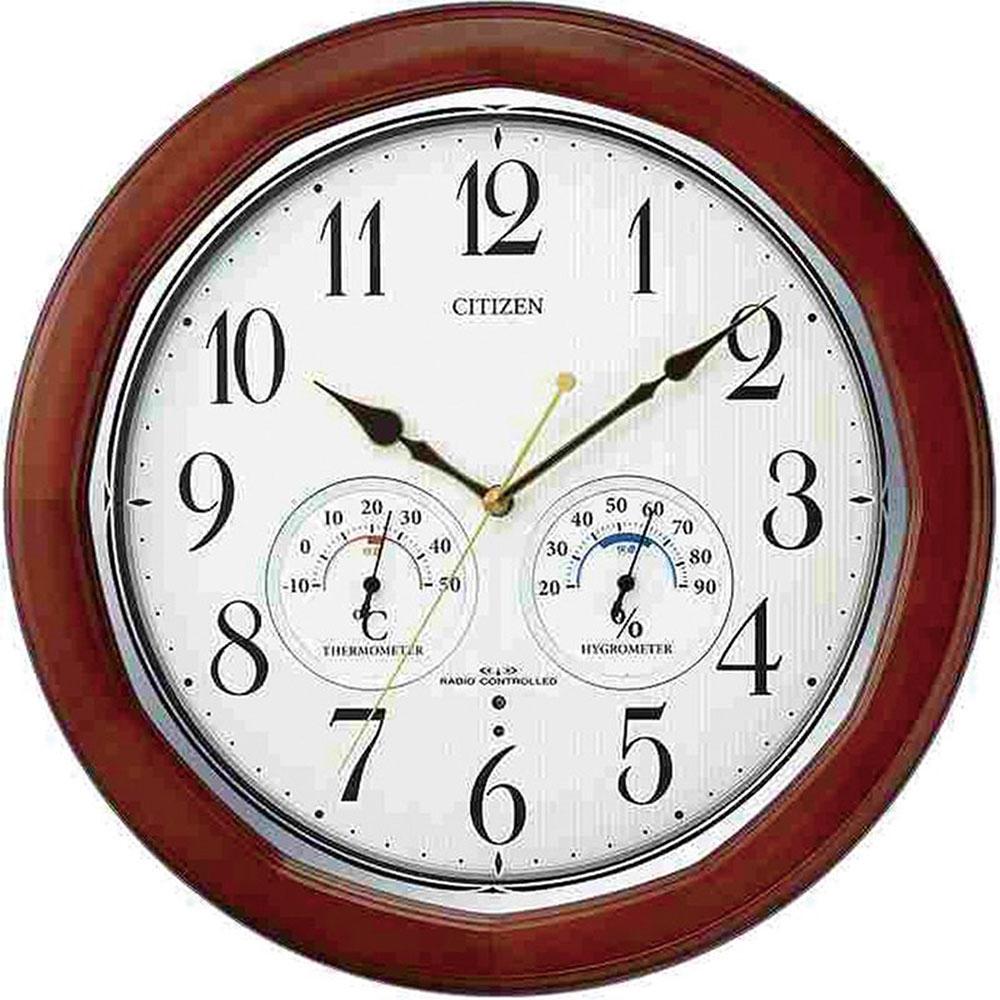 リズム時計 電波掛け時計 シチズン ネムリーナインフォートW 新築祝い 竣工記念 開店祝い 開業祝い プレゼント