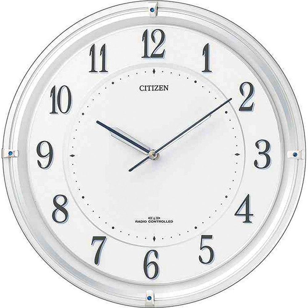 リズム時計 電波掛け時計 シチズン 4MY817-003 新築祝い 竣工記念 開店祝い 開業祝い プレゼント