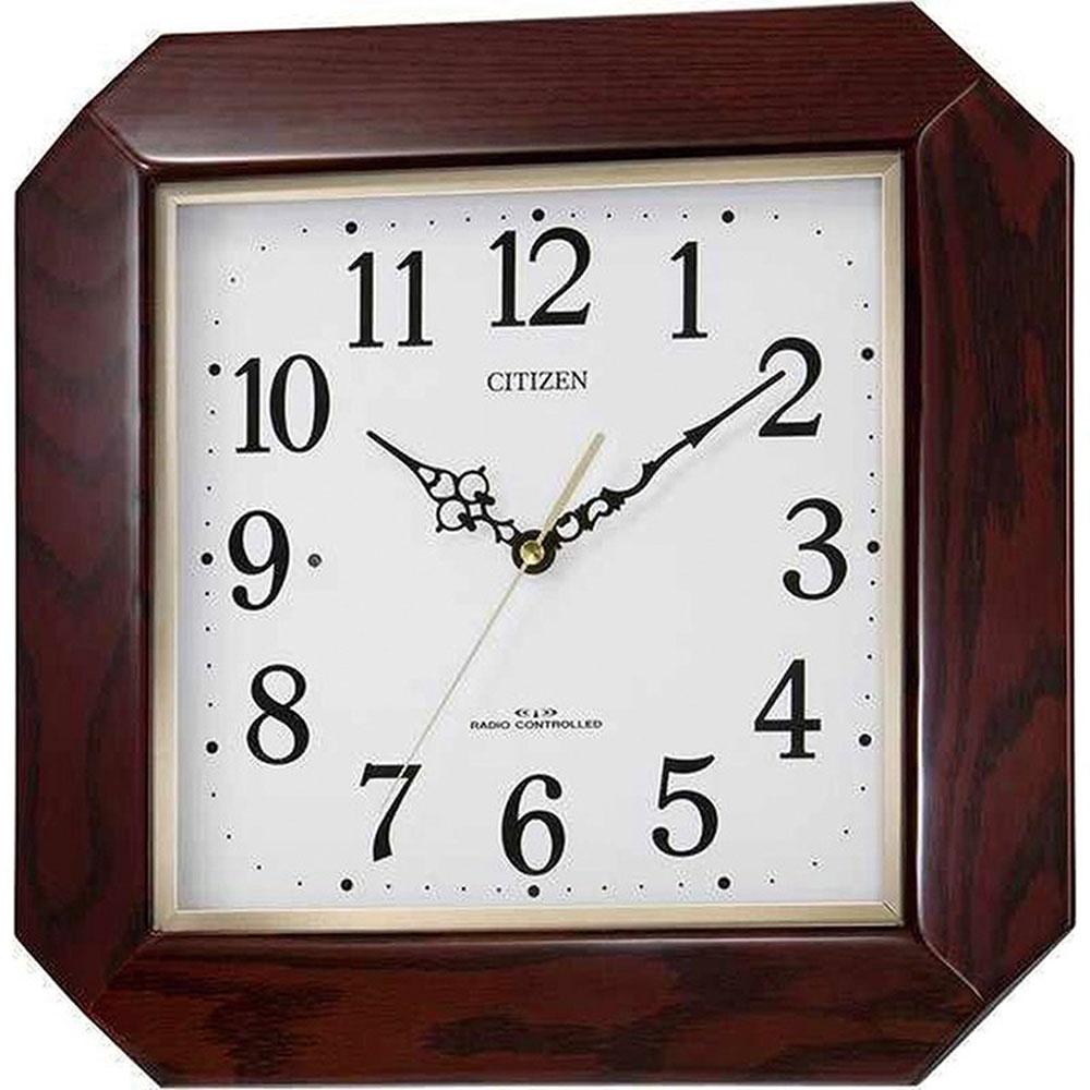 リズム時計 電波掛け時計 シチズン 綾波 新築祝い 竣工記念 開店祝い 開業祝い プレゼント