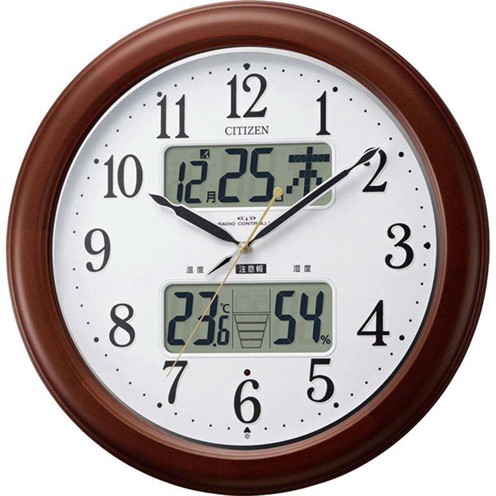 名入れ対応可 電波時計 掛け時計 | リズム時計 インフォームナビEX | 電波掛け時計 4FY620-006 | 掛け時計 | お祝い 竣工 設立 新生活 記念品 プレゼント