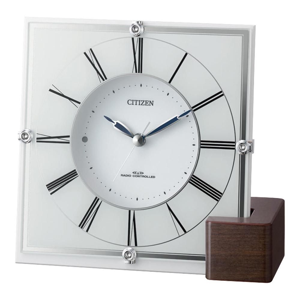 名入れ対応可 電波時計 掛け時計 | リズム時計 インテリア電波時計 | 電波掛け置き兼用時計 4RY707-003 | 置き掛け兼用時計 | お祝い 竣工 設立 新生活 記念品 プレゼント