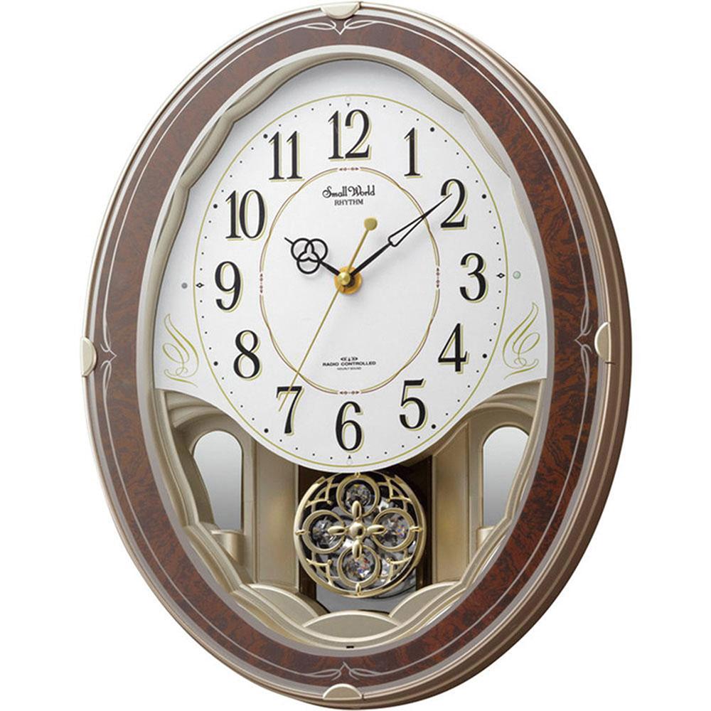 リズム時計 電波掛け時計 シチズン スモールワールドハイム 新築祝い 竣工記念 開店祝い 開業祝い プレゼント