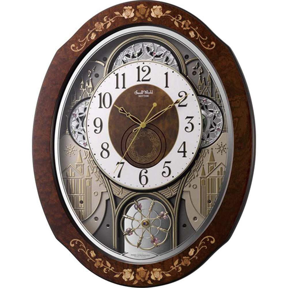 リズム時計 電波_掛け時計 シチズン スモールワールドティアモ 新築祝い 竣工記念 開店祝い 開業祝い プレゼント