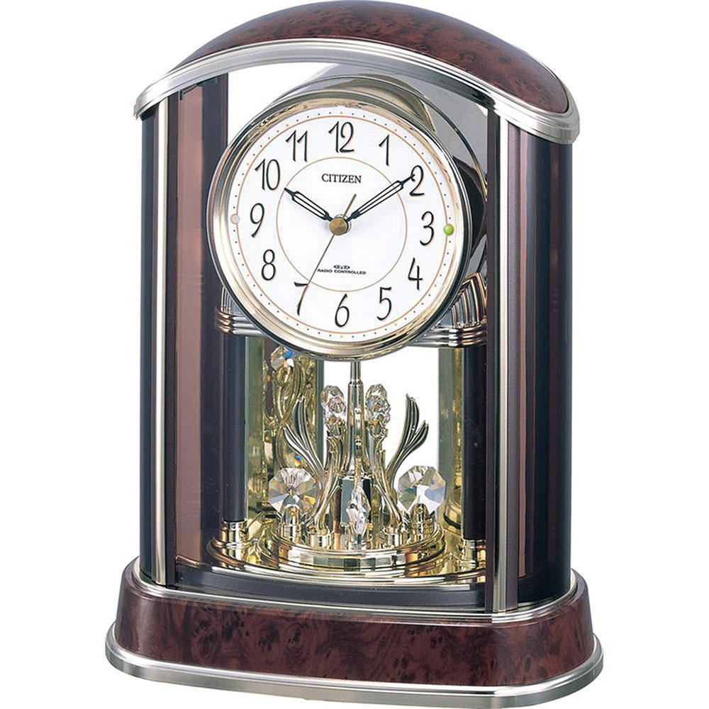 リズム時計 電波置き時計 シチズン パルアモールR658N 新築祝い 竣工記念 開店祝い 開業祝い プレゼント