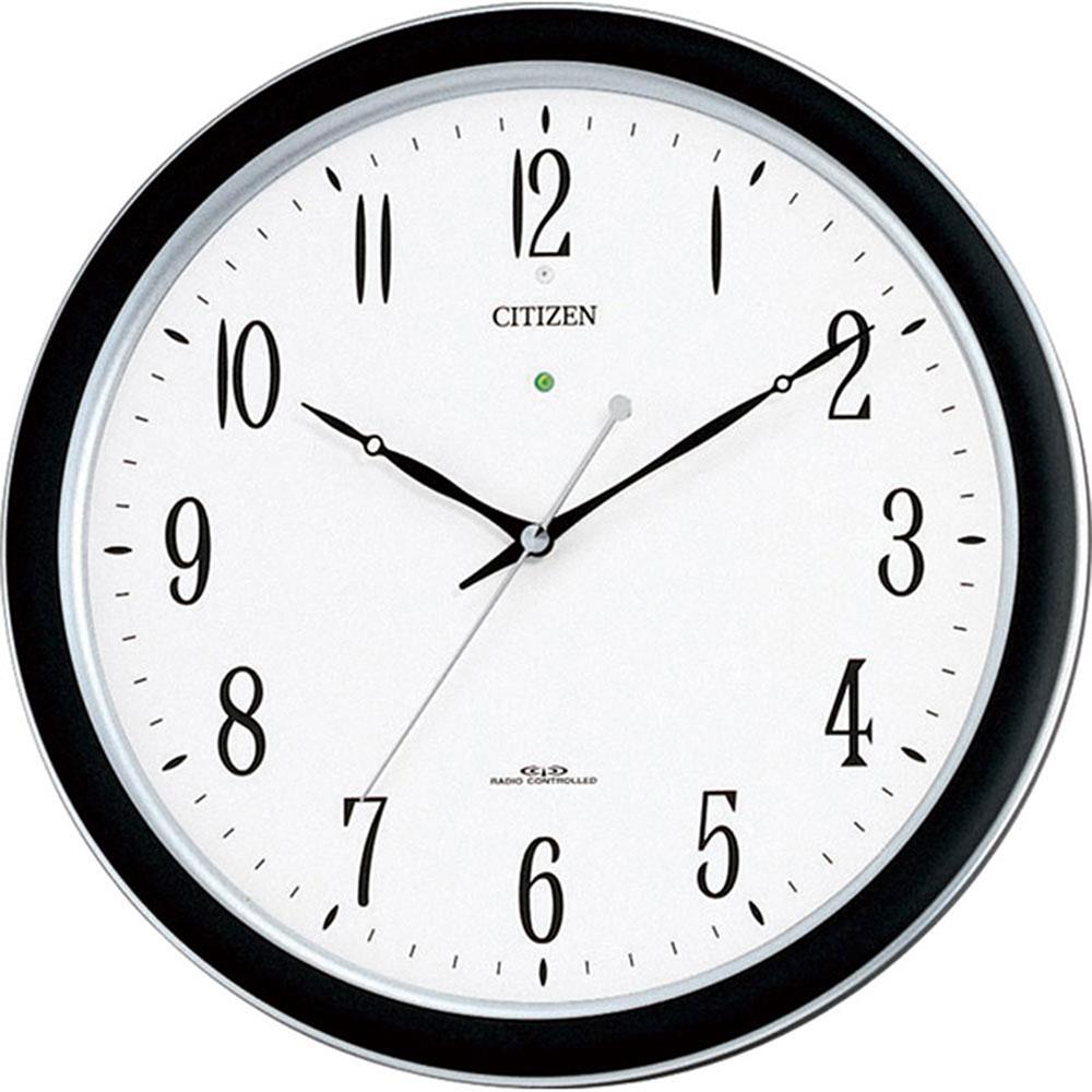 リズム時計 電波掛け時計 シチズン ネムリーナM691F 新築祝い 竣工記念 開店祝い 開業祝い プレゼント