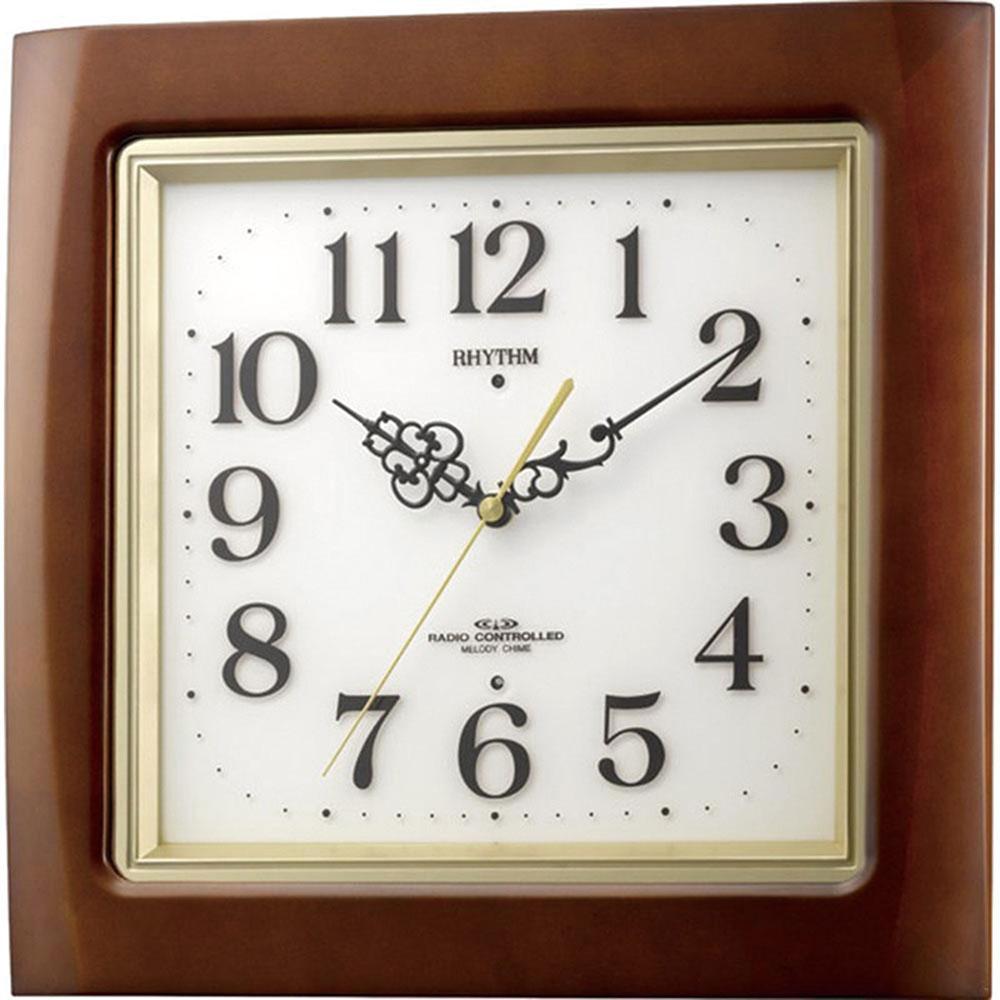 リズム時計 電波掛け時計 シチズン ネムリーナM468R 新築祝い 竣工記念 開店祝い 開業祝い プレゼント