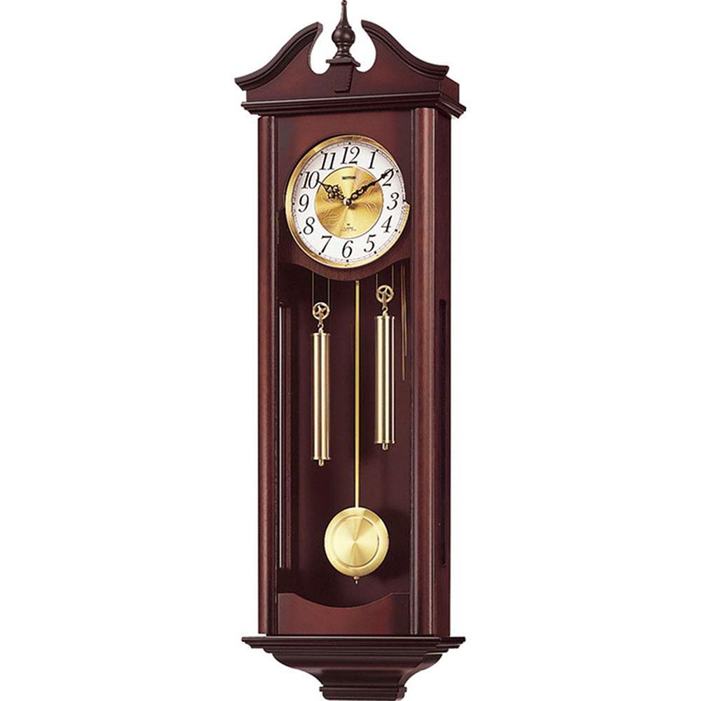 名入れ対応可 インテリアクロック | リズム時計 キャロラインR | 柱時計 4MJ742RH06 | 振り子時計 | お祝い 竣工 設立 新生活 記念品 プレゼント