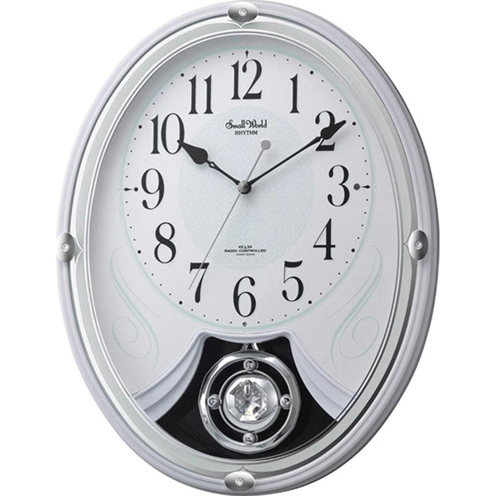 名入れ対応可 電波時計 掛け時計 | スモールワールド リリィ | 電波掛け時計 4MN528RH03 | 掛け時計 | お祝い 竣工 設立 新生活 記念品 プレゼント