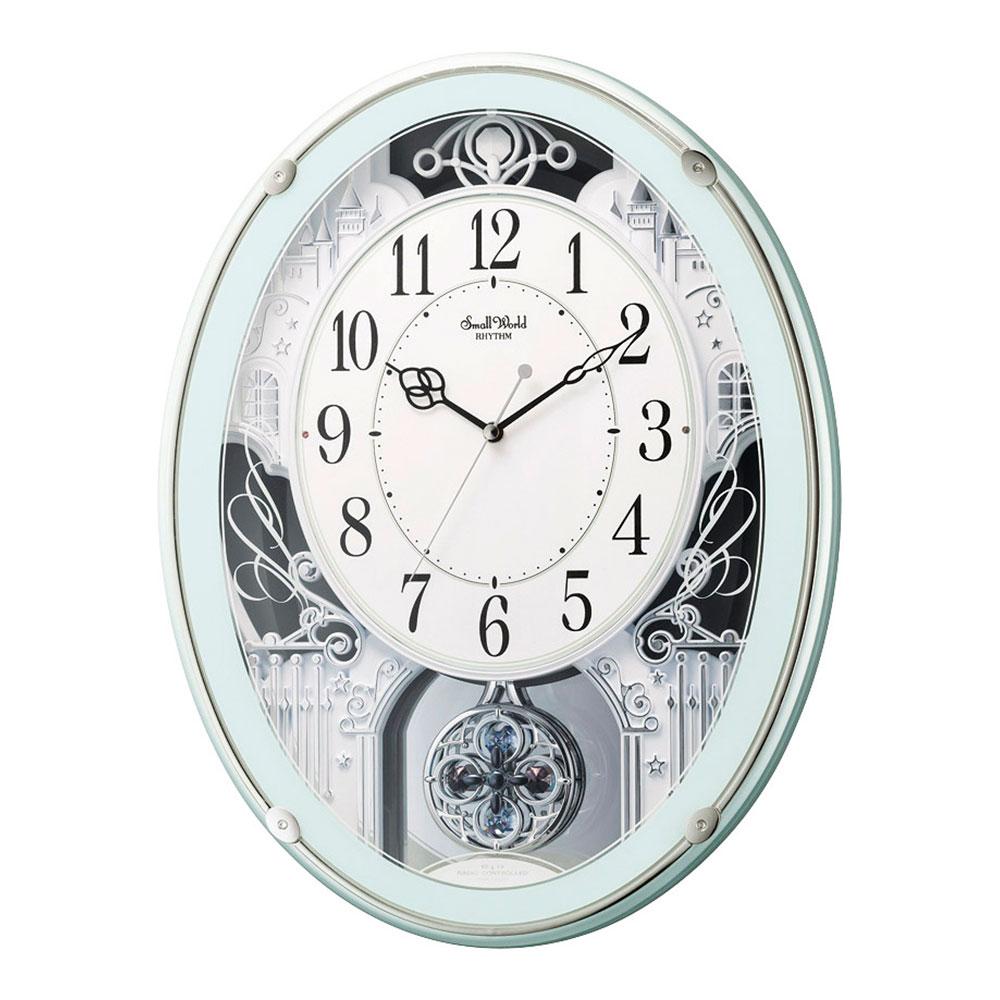 名入れ対応可 電波時計 掛け時計 | スモールワールド プラウド | 電波掛け時計 4MN523RH05 | 掛け時計 | お祝い 竣工 設立 新生活 記念品 プレゼント