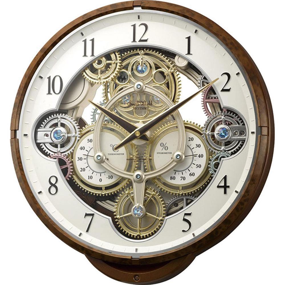 名入れ対応可 電波時計 掛け時計 | スモールワールド シーカー | 掛け時計 4MN515RH23 | からくり時計 | お祝い 竣工 設立 新生活 記念品 プレゼント