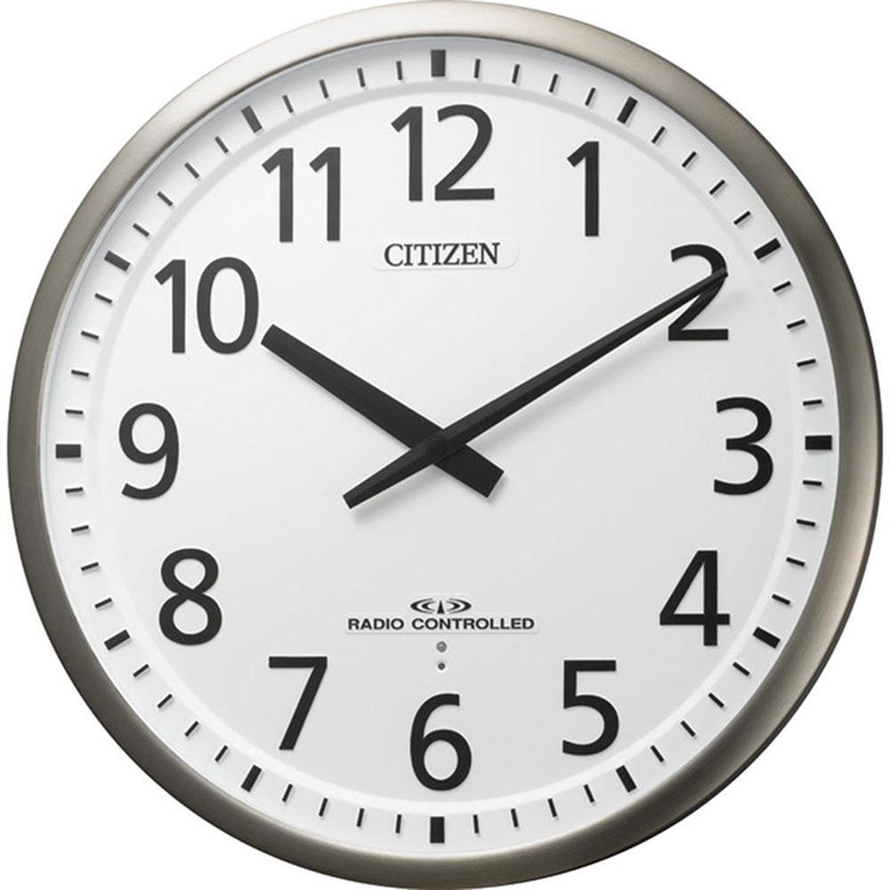 名入れ対応可 電波時計 掛け時計 4MY839-019 /リズム時計 シチズン 電波掛け時計 スリーウェイブM839 4MY839-019 銀色ヘアライン仕上(白)新築祝い 竣工記念 開店祝い 開業祝い