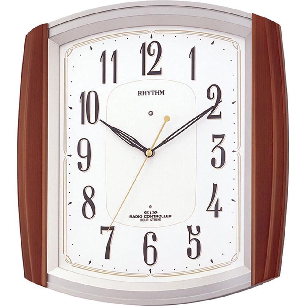リズム時計 電波掛け時計 シチズン ネムリーナM469R 新築祝い 竣工記念 開店祝い 開業祝い プレゼント