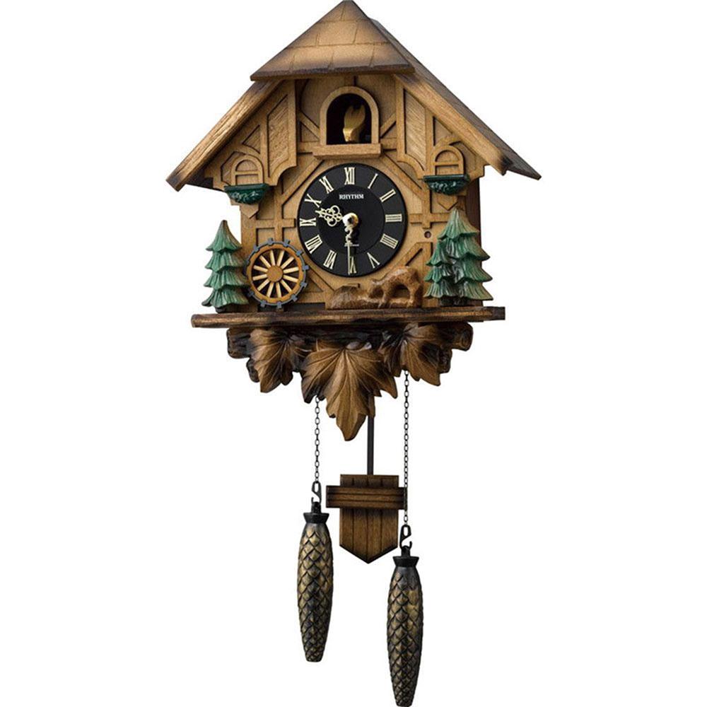 名入れ対応可 インテリアクロック   リズム時計 カッコーティンバー   掛け時計 4MJ423SR06   鳩時計   お祝い 竣工 設立 新生活 記念品 プレゼント
