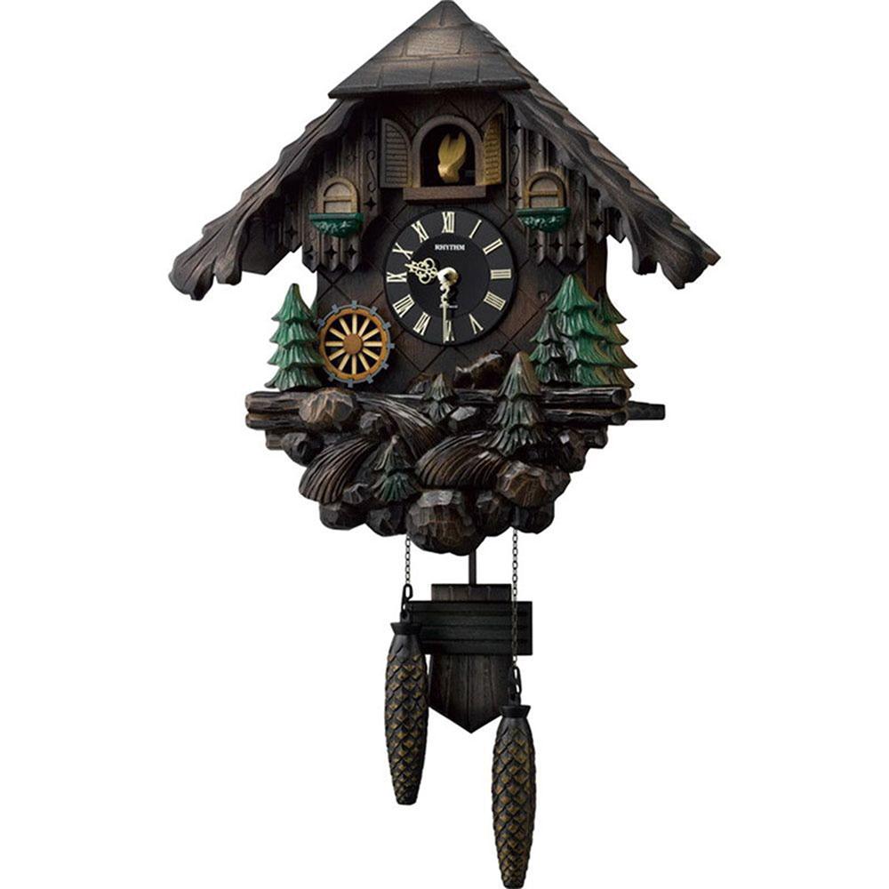 名入れ対応可 インテリアクロック | リズム時計 RHYTHM リズム カッコーヴァルト | 掛け時計 4MJ422SR06 | 鳩時計 | お祝い 竣工 設立 新生活 記念品 プレゼント