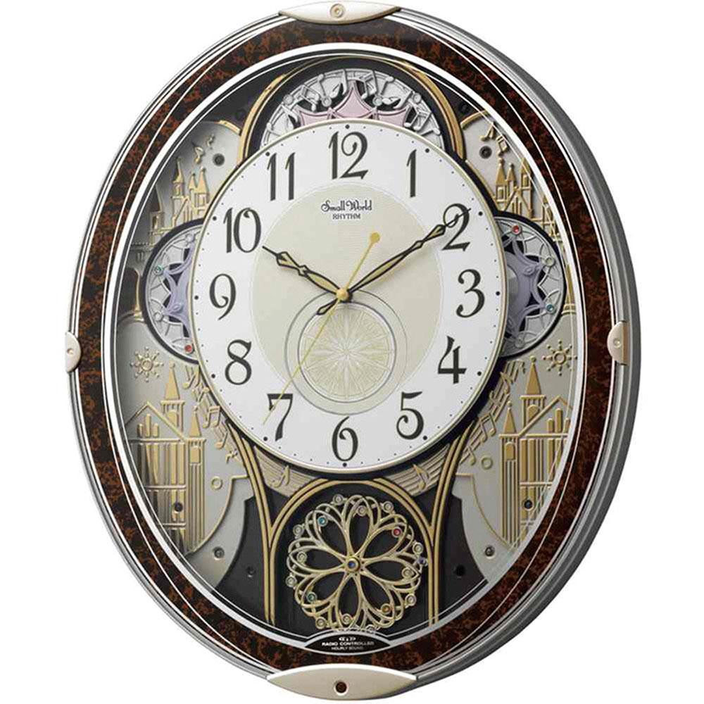 記念品 名入れ 電波_掛け時計 スモールワールドノエルN 送料無料 新築祝い 竣工記念 開店祝い 開業祝い プレゼント