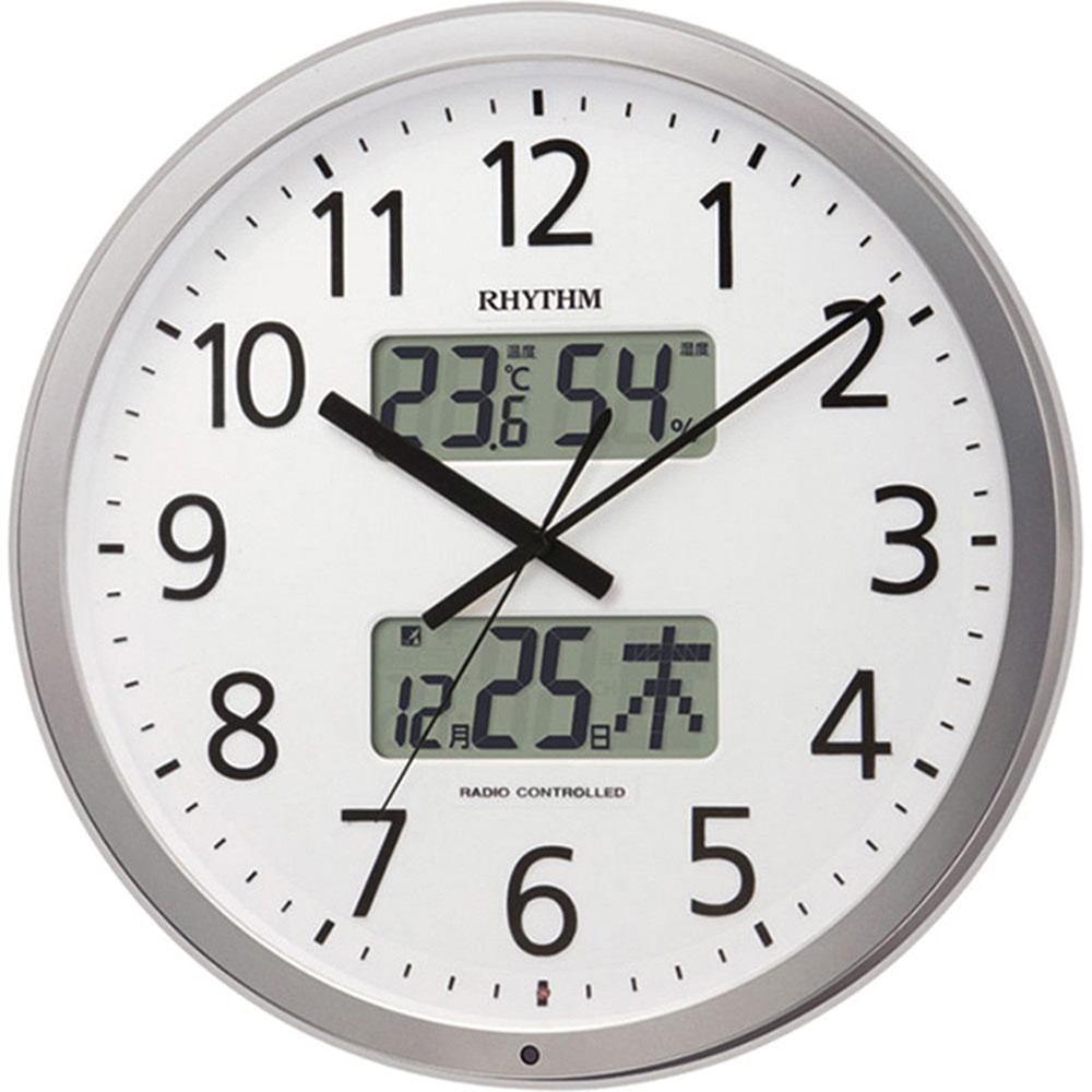 名入れ対応可 電波時計 掛け時計 | リズム時計 RHYTHM リズム プログラムカレンダー403SR | 電波掛け時計 4FN403SR19 | 掛け時計 | お祝い 竣工 設立 新生活 記念品 プレゼント