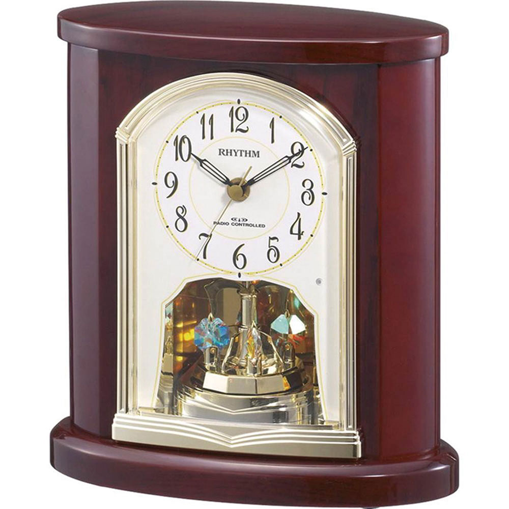 リズム時計 電波_置き時計 シチズン パルロワイエR681SR 新築祝い 竣工記念 開店祝い 開業祝い プレゼント